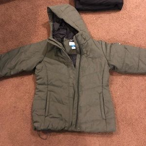 Thick Olive Green Winter Coat